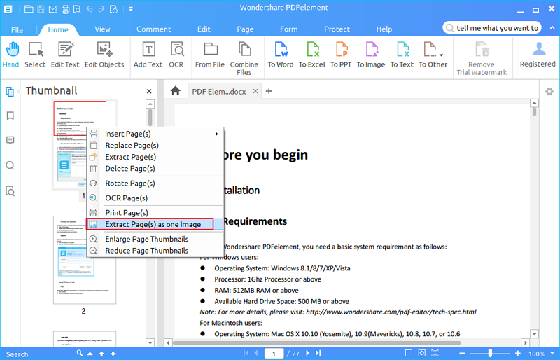How to Convert the PDF File to the Image File